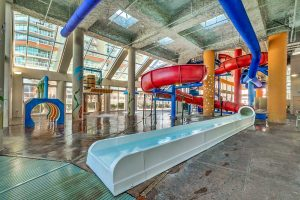 Dunes Village Resort in Myrtle Beach indoor water slide