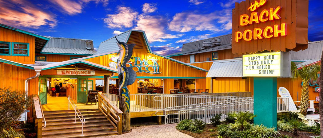 Panama City Beach Fl The Back Porch Seafood Oyster House