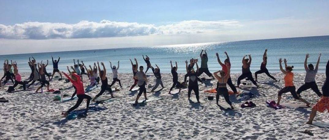 Destin Yoga on the beach