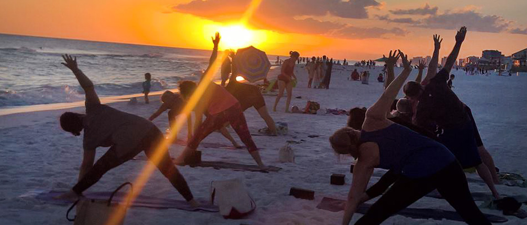 Beach Yoga at Sunset