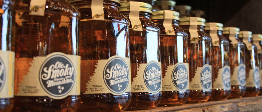 Jars of Ole Smoky Moonshine