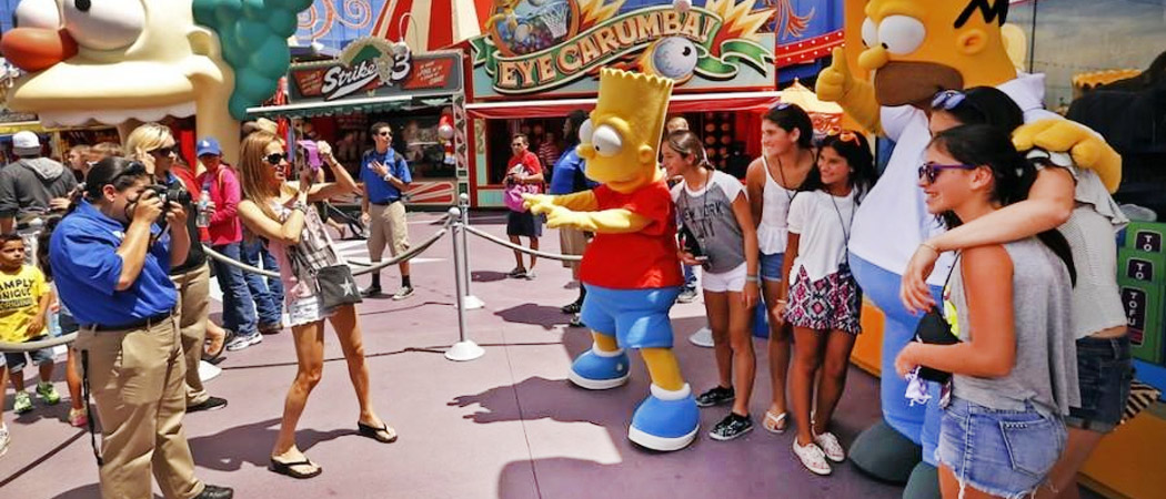 Simpsons Universal Photo Ops