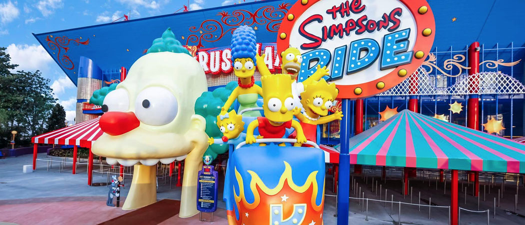 Simpsons Universal rides and games