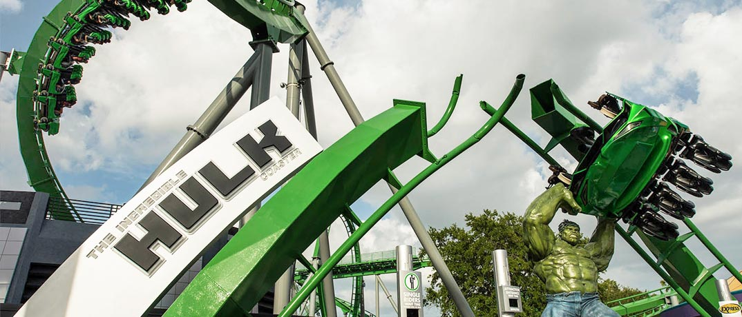 The Incredible Hulk Roller Coaster